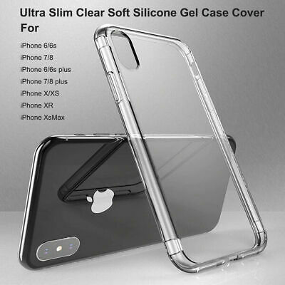 AU3.99 • Buy Ultra Slim Clear Soft Silicone Gel Case Cover For IPhone X XR XS Max 11 Pro Max