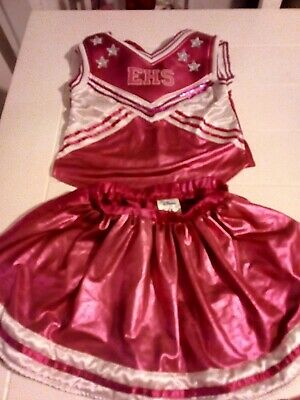£3.99 • Buy Cheerleader Top & Skirt Girl's Fancy Dress  Costume Play Clothing 5-6 Clothes
