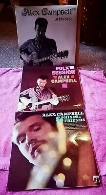£9 • Buy Alex Campbell 3 LPs Joblot - Folk Session/At HIs Best/& His Friends ***SALE***