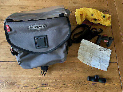 ALTURA Orkney Bar Bag. 7 Litre Capacity. Grey/black • 6.50£
