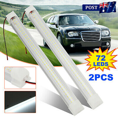 AU14.39 • Buy 2X 72 LED Strip Lights BAR 12V Car Interior Lamp Camping Caravan Boat Cool White