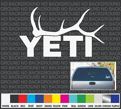 YETI Whitetail Deer Antlers Boat Cooler Car Truck Window Decal Sticker Laptop 7  • 1.88£