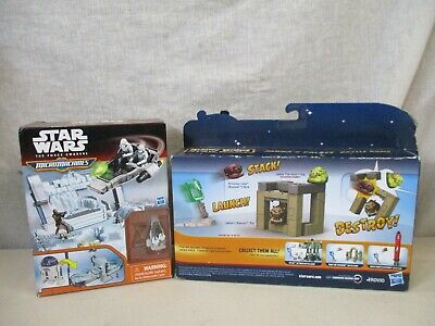 $ CDN1.32 • Buy 2 Vintage Star Wars Micromachines Angry Birds Star Wars Figures In Boxes Hasbro