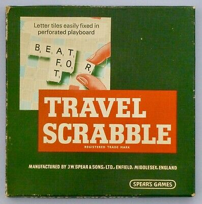 Travel Scrabble - J. W. Spear & Sons - Used. Complete Inc Inst. Good Condition • 3£