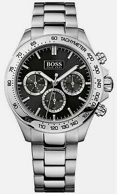 Hugo Boss  HB1512965  Men's  Ikon  Black Dial Silver Bracelet Chronograph Watch  • 34£