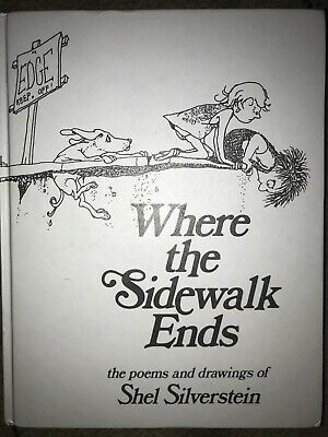 Where The Sidewalk Ends By Shel Silverstein Hardback Book  Free Post • 8.99£