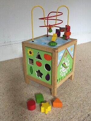 Janod Activity Wooden Cube • 15£