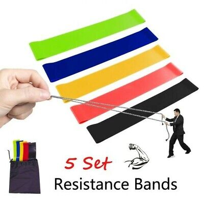 AU5.99 • Buy  Latex Resistance Band 5pcs Set For Legs And Butt Exercise Booty Exercise