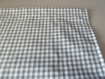 Grey, White 1/4 Gingham Check  Poly Cotton  Cupboard Curtain 35  X 42  Free Post • 12.50£