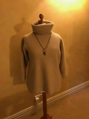 N. Peal For Harrods - Stunning 10 Ply Cashmere Oversized Jumper Size Med. 12-14 • 99£