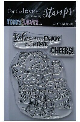 Hunkydory For The Love Of Clear Stamp Set Teddy Loves ... A GOOD BOOK • 3.99£