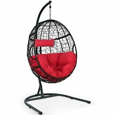 Durable Hanging Red Cushioned Hammock Chair W/Stand- • 467.77£