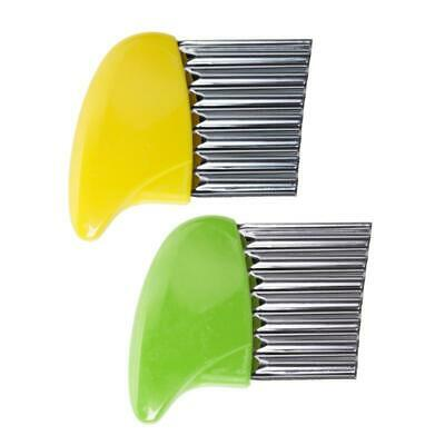 £2.82 • Buy Durable Stainless Steel Crinkle Cutter Chip Wavy Chopper Kitchen Potato
