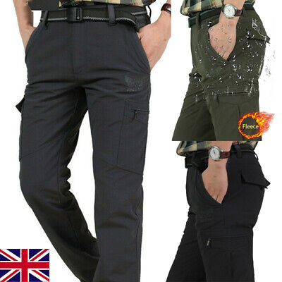 Mens Winter Warmer Thick Tactical Fleece Lined Pants Soft Combat Pants Trousers • 21.49£