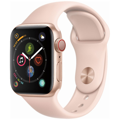 $ CDN374.96 • Buy Apple Watch Series 4 44mm GPS Cellular 4G LTE Gold With Pink Sport Band