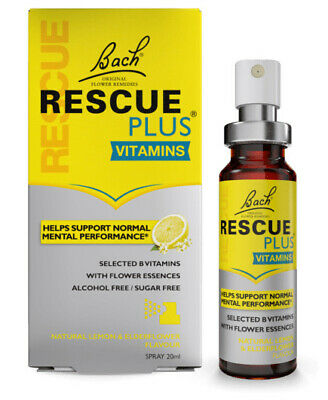 Brand New Boxed Bach Rescue Remedy Plus Spray With Vitamin • 9.99£