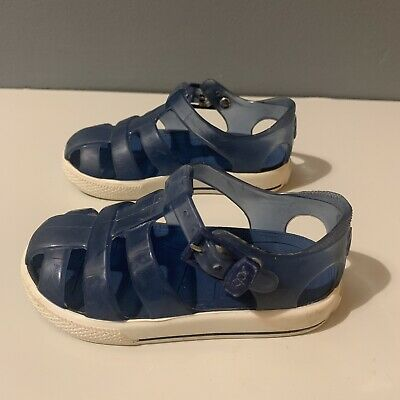 Igor Sandals- Toddler Kids Jelly Shoes- Navy Blue Clear- Size 5/ EU 22 Jellies • 5.99£