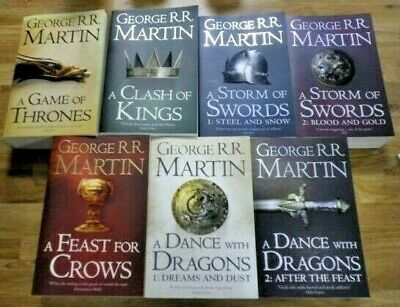 A Game Of Thrones 1-7 Book Set A Song Of Ice And Fire/map George R.r Martin  • 16.99£