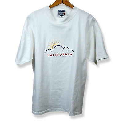 $ CDN26.18 • Buy Vintage California Embroidered T-Shirt Made In USA Size Large