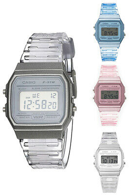 $ CDN25.36 • Buy Casio Women's Classic Digital Quartz Transparent Resin Watch F91WS