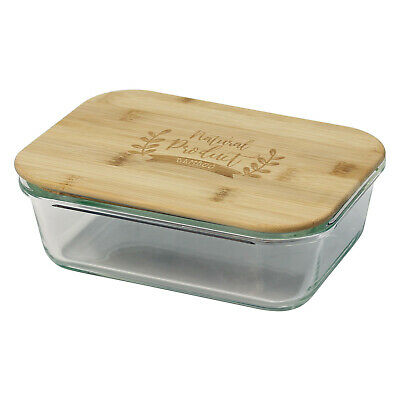 £6.95 • Buy Urban Living 650ml Glass Kitchen Food Storage Box Container Airtight Bamboo Lid
