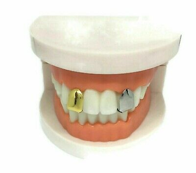 Self-Fitting Single Tooth Cap L FREE UK POST  Gold Silver Grillz Grills Gangster • 5.99£