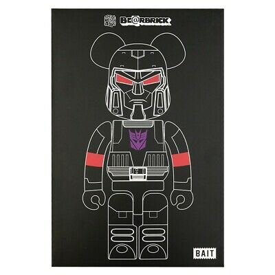 $175 • Buy BAIT X Medicom Transformers Megatron 100% 400% Bearbrick Set SDCC 2017