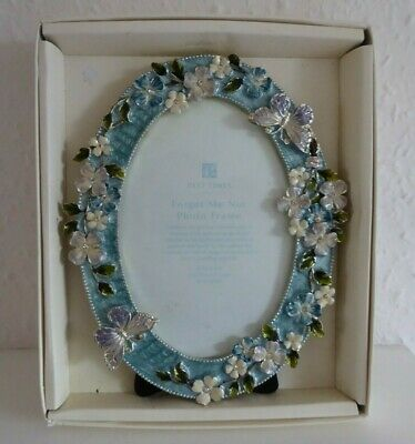 Beautiful Past Times Oval Forget Me Not / Butterflies Photo Frame • 9.50£