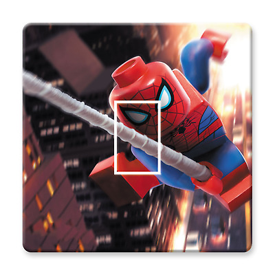 Lego Spiderman Light Switch Sticker Decal Kids Boys Girls Bedroom • 1.69£