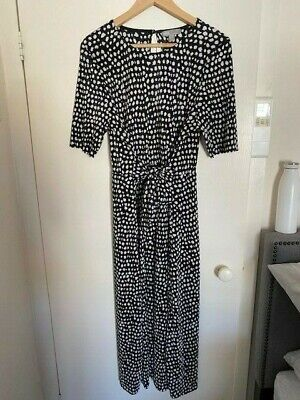 AU45 • Buy ASOS | BNWT| Black And While Polka Dot | Midi Dress | Size 18