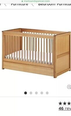 Chloe Cot Bed From Marks & Spencer Toddler Bed Wooden Oak - Free Local Delivery • 150£
