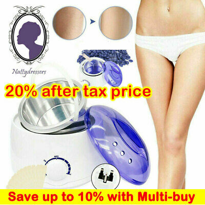 Professional Full Waxing Wax Heater Painless Hair Removal Tool Set Salon Home • 14.99£