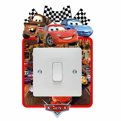 Disney Cars Light Switch Surround Sticker Decal Kids Boys Girls Bedroom • 2.49£