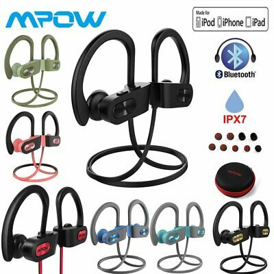 MPOW Stereo Wireless Bluetooth Headphones Noise Cancelling IPX7 Gym Earbuds UK • 19.06£
