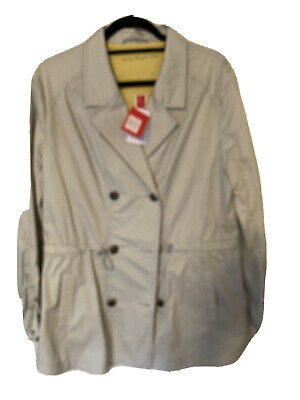 Captain Tortue Miss Captain Beige Trench Coat Size 44 (16)  • 15£