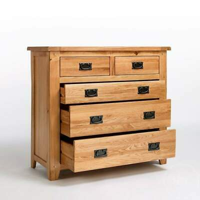 Solid Oak Chest Of Drawers | Light Oak Chest Of Drawers | Rustic Oak Furniture  • 319.99£