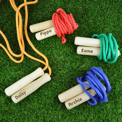£7.99 • Buy Personalised Wooden Handle Skipping Rope Children's Christmas Stocking Filler