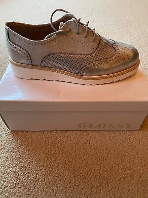 £20 • Buy Womens Loafers Silver Size 6 Leather Flat Shoes