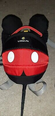Little Life Disney Mickey Mouse Backpack Harness Reins Toddler Walking Aid • 4£