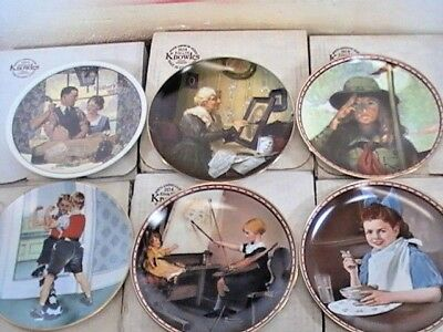 $ CDN29.10 • Buy Lot Of (6) Edwin M. Knowles Vintage (Norman Rockwell) Collector Plates  (7)