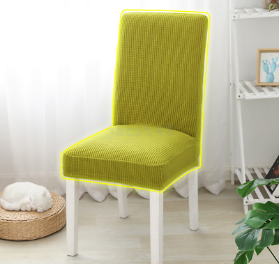 AU22.85 • Buy 1-4 X Jacquard Thick Spandex Elastic Stretch Slip Cover Washable Dining Chair