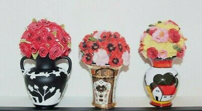 Three Atlas Editions Flower Pots... Crown Derby Clarice Cliff & Wedgwood • 5£