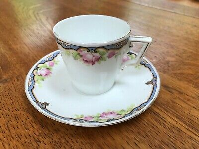 Shelley Rose Patterned China Coffee Cup And Saucer • 4£