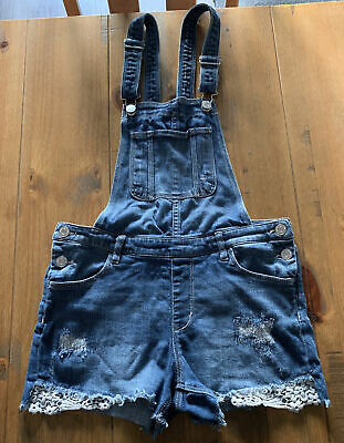 Dungaree Shorts, Age 12-13 Years • 8£