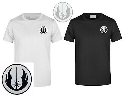 Star Wars Jedi Warrior Embroidered DIY T-Shirt Men's Logo Short Sleeved • 7.99£