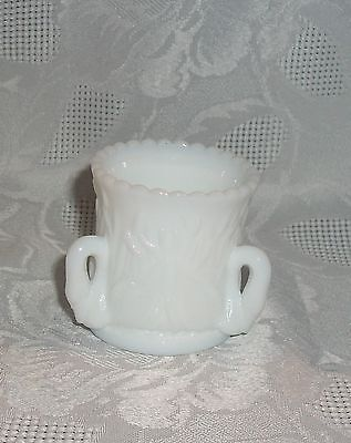 $12.95 • Buy Westmoreland White Milk Glass Toothpick Holder With 3 Swan Handles Marked