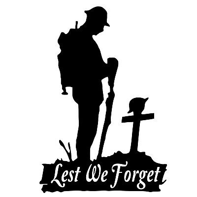 £3.99 • Buy Lest We Forget Army, Remembrance Armistice Day Window Vinyl Sticker Decal M