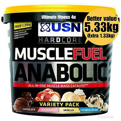 £49.99 • Buy USN Muscle Fuel Anabolic All In One 4kg+1.33kg *FREE NEXT WORKING DAY DELIVERY*