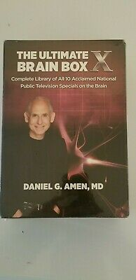 THE ULTIMATE BRAIN BOX X - 10 DVD Box Set By Daniel G. Amen - BRAND NEW SEALED!! • 10.71£