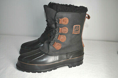 LaCrosse Winter Duck Boots Black & Brown Leather Insulated Fur Top  Men 9 M • 28.22£